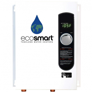 Ecosmart ECO 18 Electric Tankless Water Heater, 18 KW at 240 Volts @ Amazon