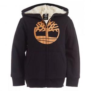 Timberland Big Boys Tree Black Fleece-Lined Logo Hoodie @ Macy's