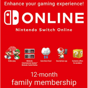 Nintendo Switch Online 12 Month Family Membership for £24.85 @ShopTo