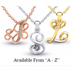 Initial Necklaces from $10 to $500 @ SuperJeweler