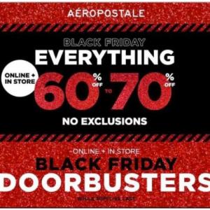 Aeropostale 2019 Black Friday Doorbusters