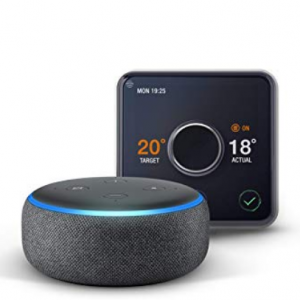 Hive Active Heating & Hot Water Thermostat + Echo Dot for £159.98 @Amazon UK