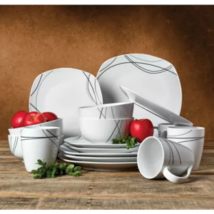 Coming Soon: Tabletops Unlimited Alec 16-Pc. Ash White Set, Service for 4 @ Macy's