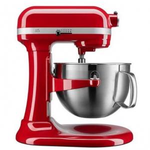 史低价:KitchenAid KP26M9XCER 600系列 575瓦超大马力专业立式厨师机 红色和黑色可选 @ Amazon