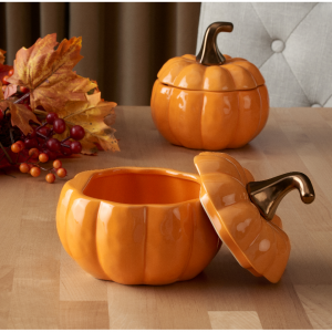 Better Homes & Gardens 2-Piece Orange Pumpkin Soup Bowl Set with Lids @ Walmart