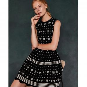 MARIAE Star jacquard knit dress @Ted Baker