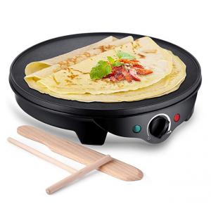 【Amazon】JYDMIX  12英寸不粘摊煎饼炉 包括木制煎饼刮板 1300W