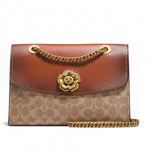 COACH Parker In Signature Canvas With Tea Rose Turnlock @ Belk