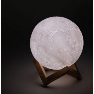 50% off 3D Printed Moon Lamp with Stand - 6 inches, Dimmable, Touch LED Night Light @Walmart