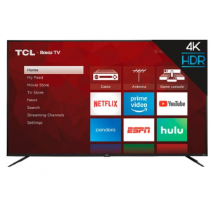 """TCL 75"""" Class LED 4 Series 2160p Smart 4K UHD TV with HDR Roku TV @ Best Buy"""