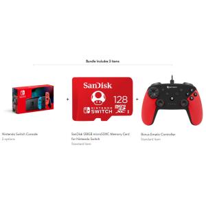 Nintendo Switch新款 + 128GB限定SD卡 + 无线游戏手柄 @ Walmart