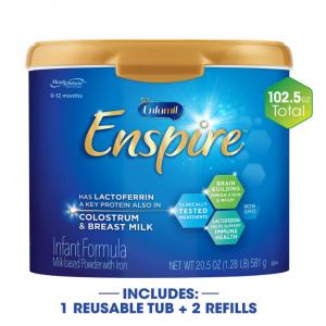 【Amazon】Enfamil Enspire 0-12月齡 嬰兒配方奶粉 102.5 盎司