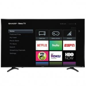 "Best Buy - 夏普LC-55LBU711U 55"" 4K智能高清电视热卖,直降$250"