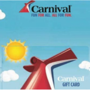 $100 Carnival Cruise Line Gift Card For $90 @PayPal