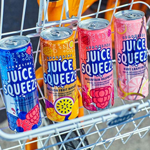 Juice Squeeze 果汁氣泡水 12Oz. 12罐 4款口味綜合裝