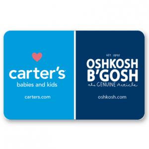 Carter's OshKosh B'gosh禮品卡特惠 @ PayPal