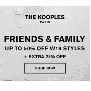 Friends and Family Fashion Sale @ The Kooples