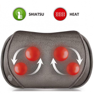Snailax Shiatsu Massage Pillow with Heat - Soft Plush @ Amazon