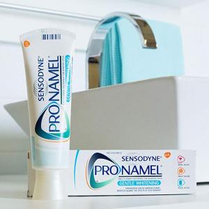 Amazon官网 Sensodyne ProNamel 强化珐琅质美白牙膏热卖 4oz 三支装