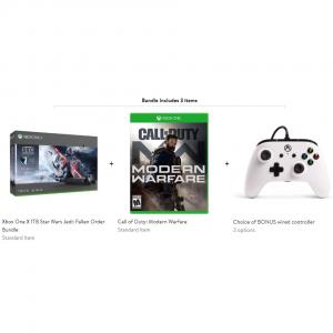 Xbox One X 1TB Star Wars Jedi: Fallen + COD + Bonus Controller @ Walmart