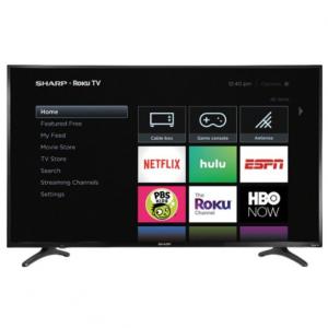 """Sharp 50"""" Smart 4K UHD TV with HDR Roku TV @ Best Buy"""