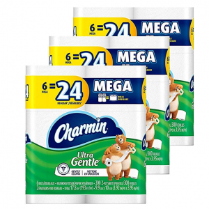 Charmin 超大卷超柔厕纸,3包18个装 @ Amazon