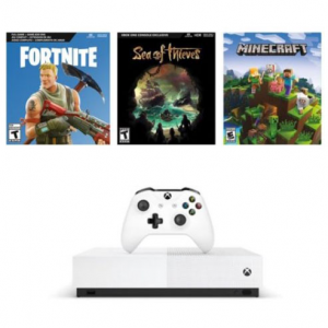 Microsoft Xbox One S 1TB 数字版 + 3款游戏 @ Walmart