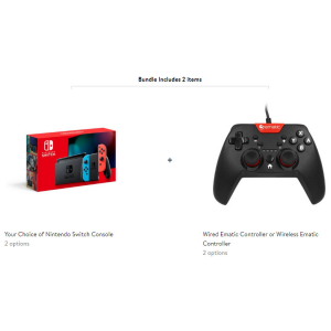 Nintendo Switch + Wired or Wireless Ematic Controller @ Walmart