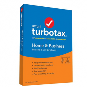 $15 OFF TurboTax Home & Business 2019 Fed+Efile+State (PC/MAC Disc)