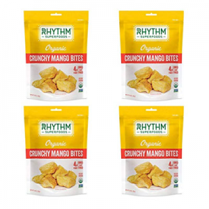 Rhythm Superfoods 酥脆芒果幹 4袋裝 素食健康零食