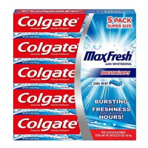 Colgate MaxFresh Toothpaste, Cool Mint (7.6 oz., 5 pk.) @ Sam's Club