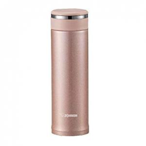 象印 不锈钢真空保温杯 带滤茶网 16盎司 香槟粉 @ Amazon