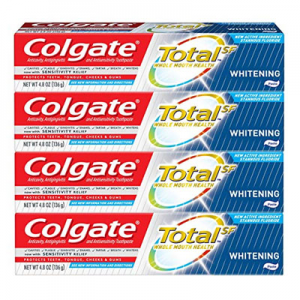 Colgate Total Whitening Toothpaste - 4.8 ounce (4 Pack) @ Amazon.com