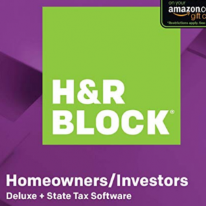 50% off H&R Block Tax Software Deluxe + State 2019 @Amazon