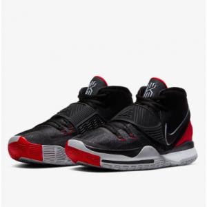 Kyrie 6 Basketball Shoe @Nike.com, Coming Soon, Black/University Red/White/Black