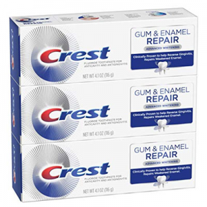 Crest Gum & Enamel Repair Toothpaste Advanced Whitening, 4.1 Ounce, Triple Pack @ Amazon.com