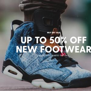 DTLR VILLA官网 MLK 纪念日鞋履特卖 收Air Jordan、Adidas、Nike、Converse等