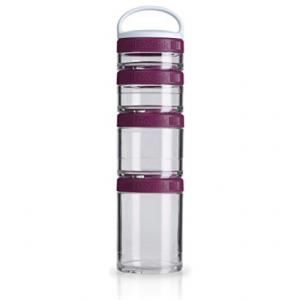 BlenderBottle C02504 多功能創意組合存儲罐 手提式 4層,李子色 @ Amazon