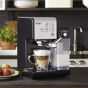 Mr. Coffee One-Touch CoffeeHouse Espresso Maker and Cappuccino Machine @ Amazon
