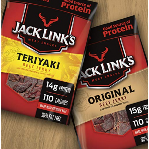 Jack Link's Beef Jerky Variety Pack, 9 Count (1.25 oz Bags) – Variety Pack @ Amazon