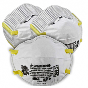 3M Particulate Respirator 8210, N95, Smoke, Dust, Grinding, Sanding, Sawing, Sweeping