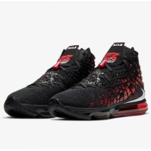 LeBron 17 Basketball Shoe @Nike.com, Black/University Red/White