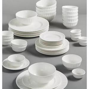 Gibson 白色餐具42件套,6人份,立減66%  @Macys
