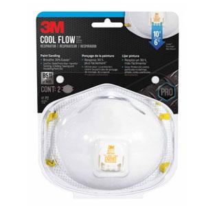 3M N95 Respirator Valved White 2 pc. @ Walmart