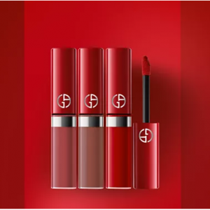 Giorgio Armani阿瑪尼紅管絲絨唇釉3支迷你裝8折熱賣
