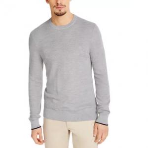 立减77%,Calvin Klein 男士羊毛混纺毛衣 多色 @Macy's