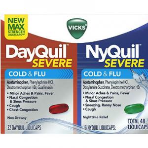 Vicks NyQuil and DayQuil 感冒藥 分白天和晚上 共48粒