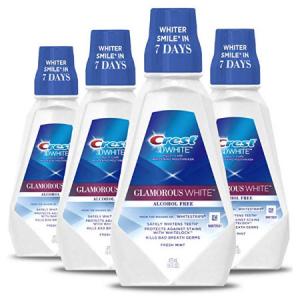 Crest 3D White Luxe Glamorous White Multi-Care Whitening Fresh Mint Flavor Mouthwash, 16 fl oz.