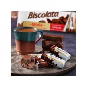 Biscolata 迷你牛奶巧克力威化 54条装 亚马逊首选