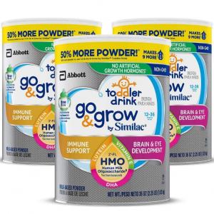 Go & Grow by Similac Non-GMO Toddler Milk-Based Drink,36 oz, 3 Count @ Amazon